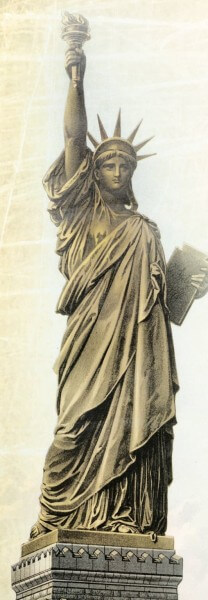 A Golden Door of Opportunity Lady Liberty
